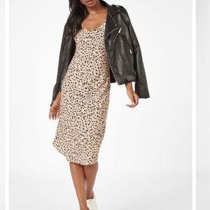 Justfab leopard print midi dress